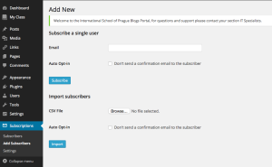 Add subscribers to your blog