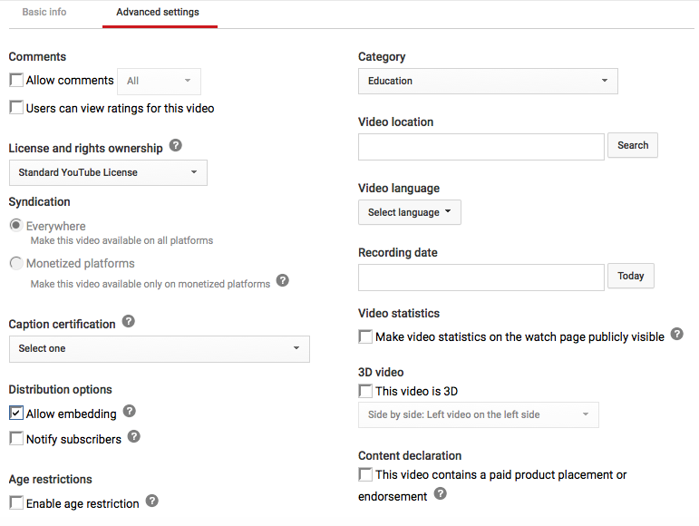 how to create slides youtube video