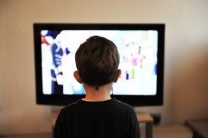 child watching screen