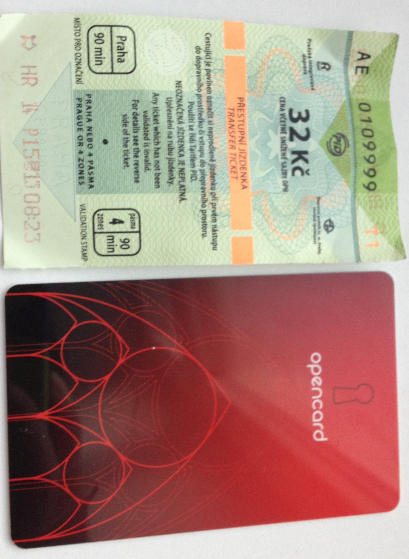OpenCard and 90 minutes ticket