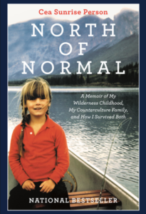 book cover for north of normal by cea sunrise person